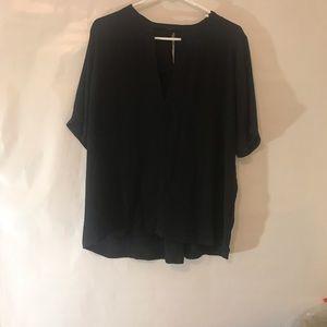 Lulu short sleeve blouse dressy key hole back XL